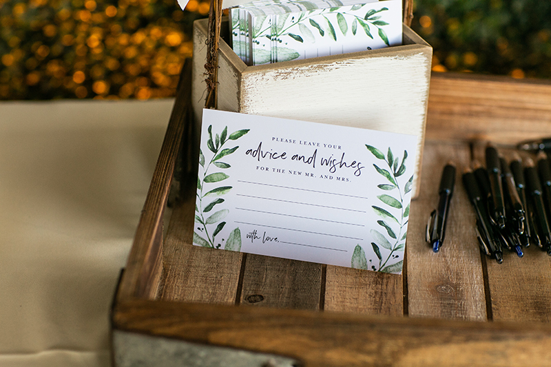 Word of Advice Cards for Your Wedding